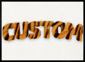 Tiger Stripe Fur Personalised Name Print