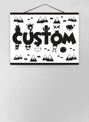 Critters Personalised Name Canvas