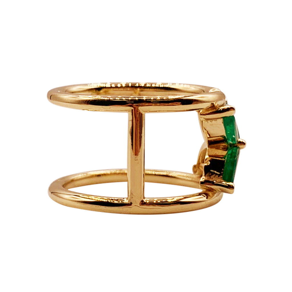 Marquise Emerald Mariposa Ring