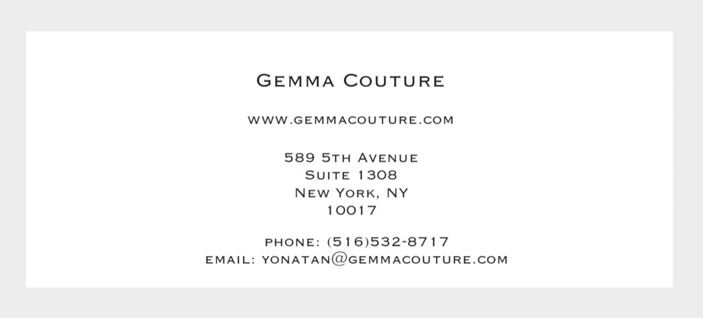 Gemma Couture Gift Certificate