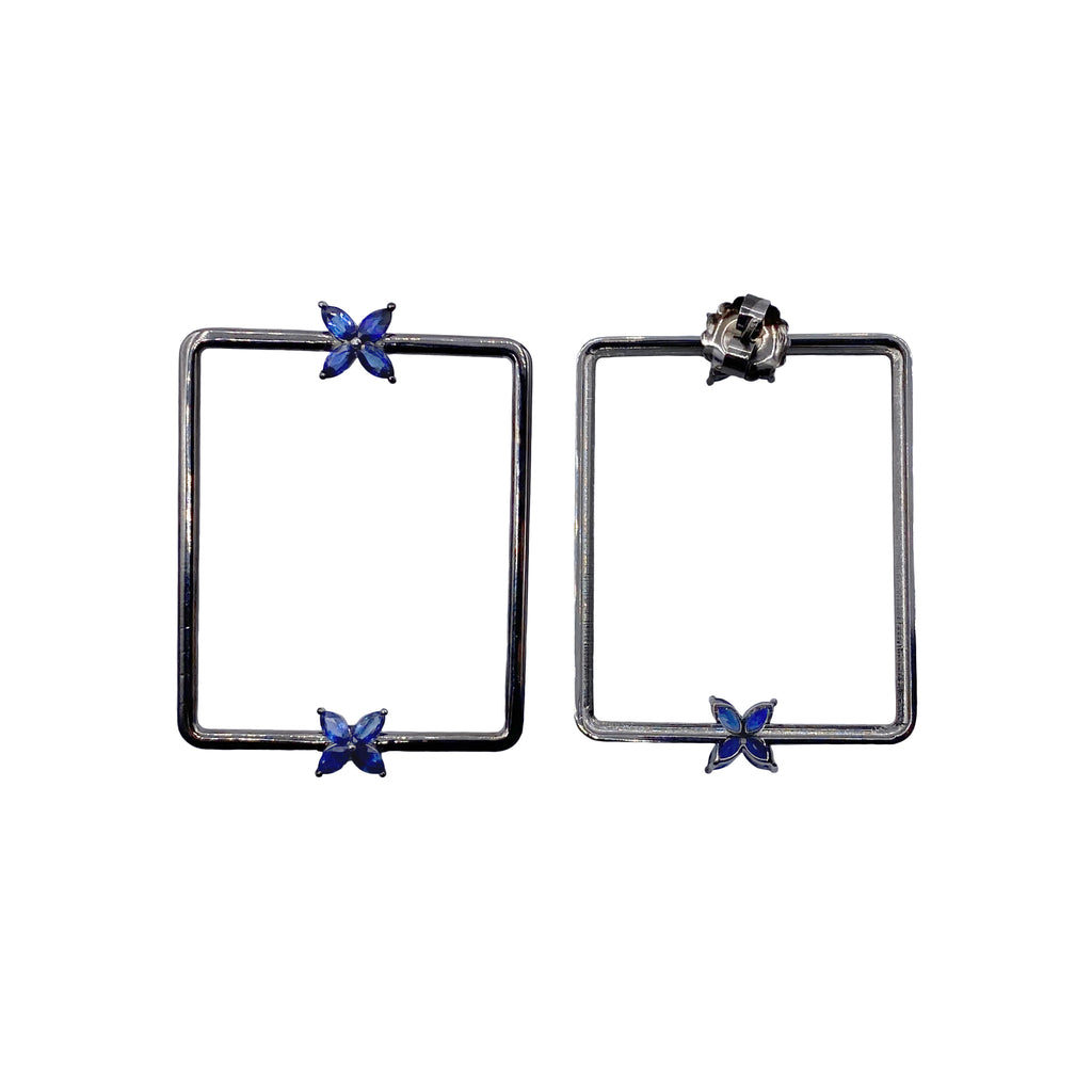 Marquise Blue Sapphire Mariposa Earrings
