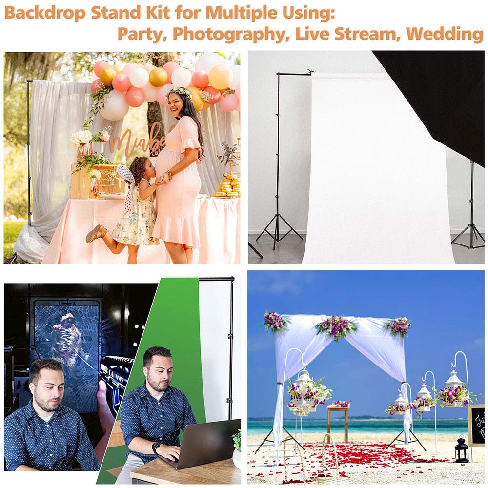 8x10 ft Adjustable Metal Photo Backdrop Stand