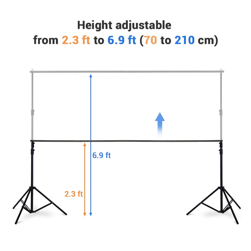 7x10 ft Adjustable Metal Photo Backdrop Stand