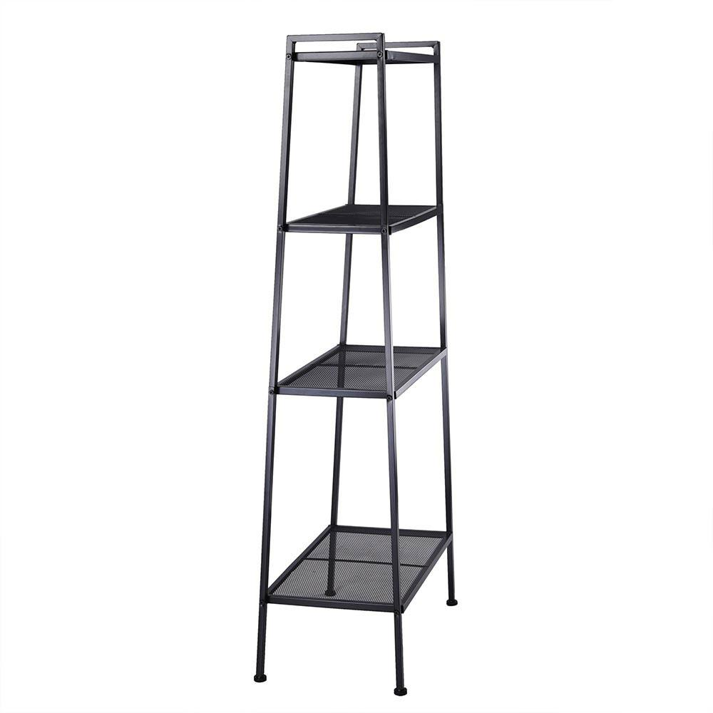 4-Shelf Open Ladder Bookshelf Display Bookcase Color Options