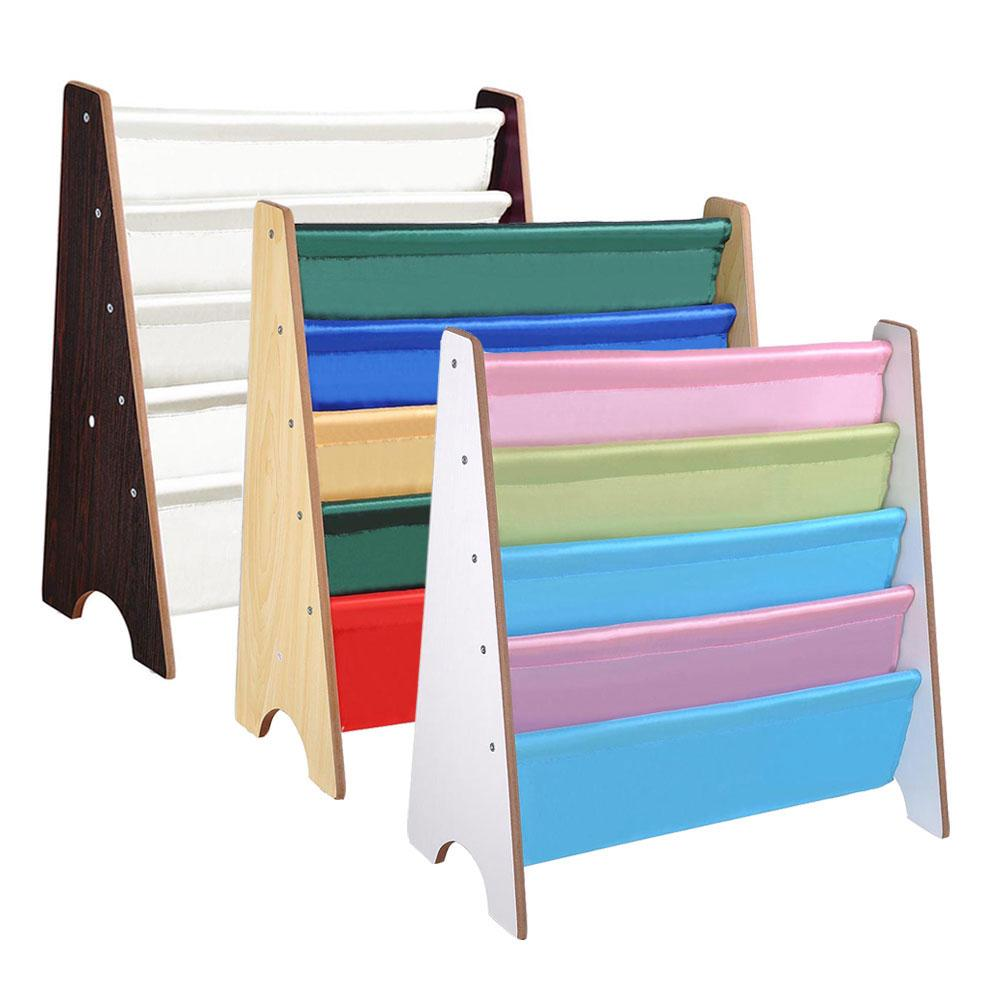 25x11x24 in. Sling Bookshelf for Kids 5 Pockets Book Rack Storage