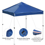 10x10 Waterproof Pop Up Canopy Tent Color Options
