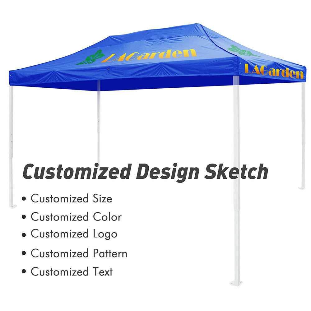 Custom Canopy Top 10x15 ft Printing Graphic Logo Color