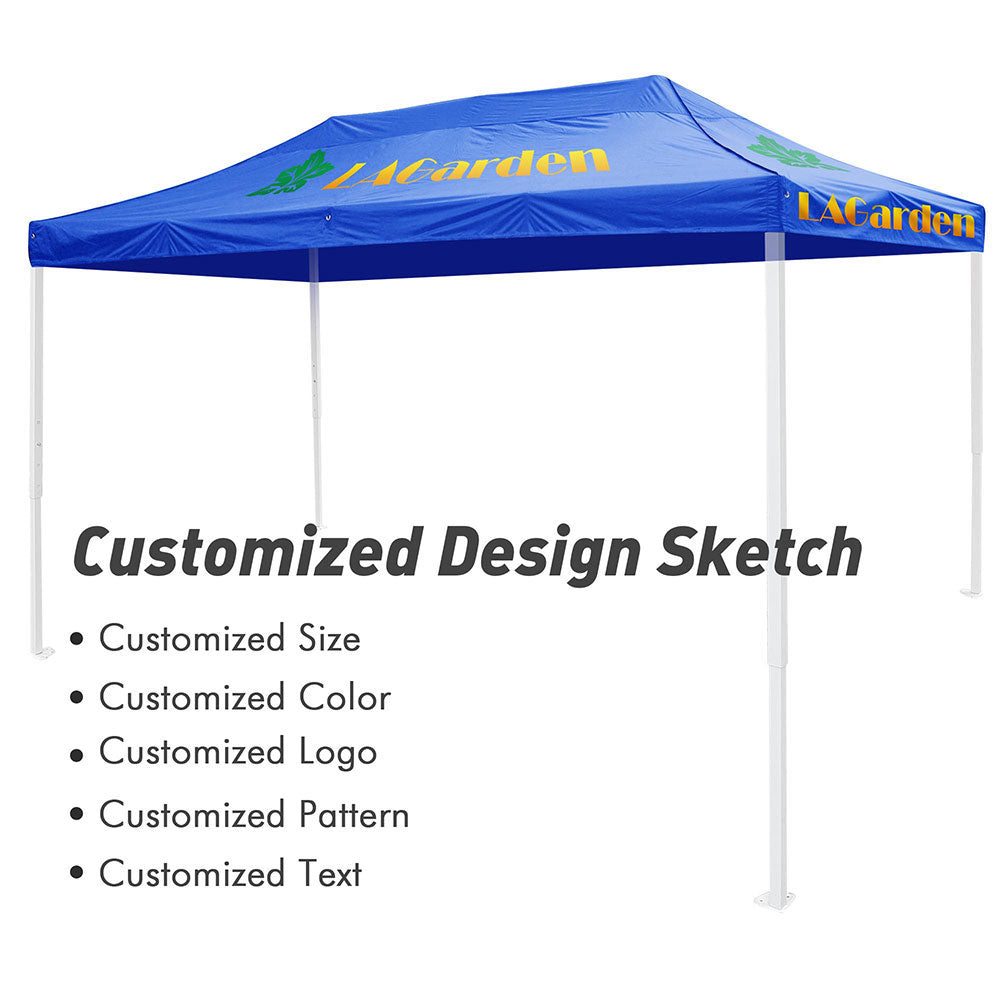 Custom Canopy Top 10x20 ft Printing Graphic Logo Color