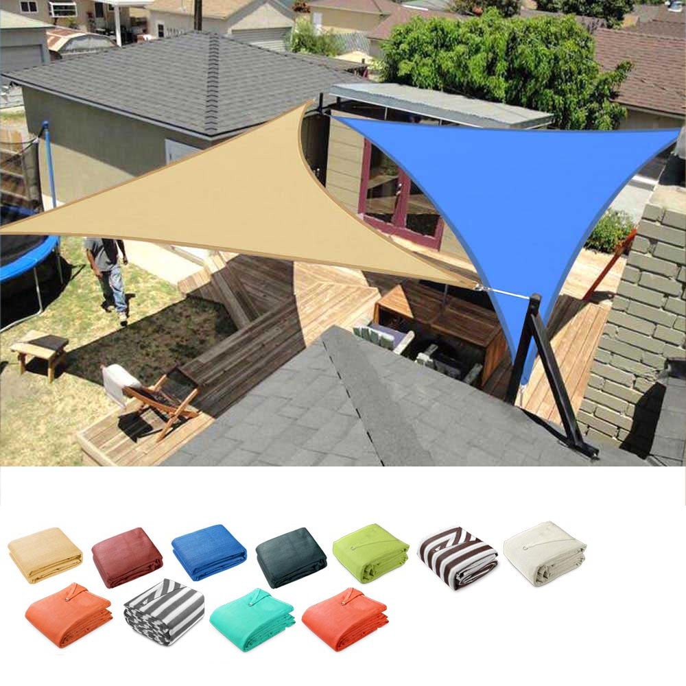 Triangle Sun Shade Patio Shade Sail Deck Shade 16.5x16.5x16.5