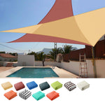 Triangle Sun Shade Patio Shade Sail Deck Shade 20x20x20