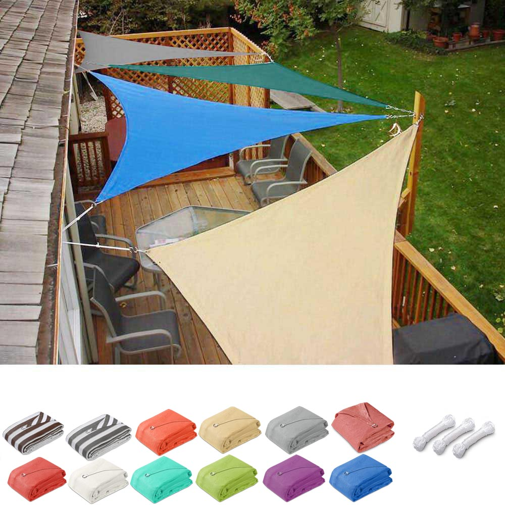 Triangle Sun Shade Patio Shade Sail Deck Shade 11.5x11.5x11.5