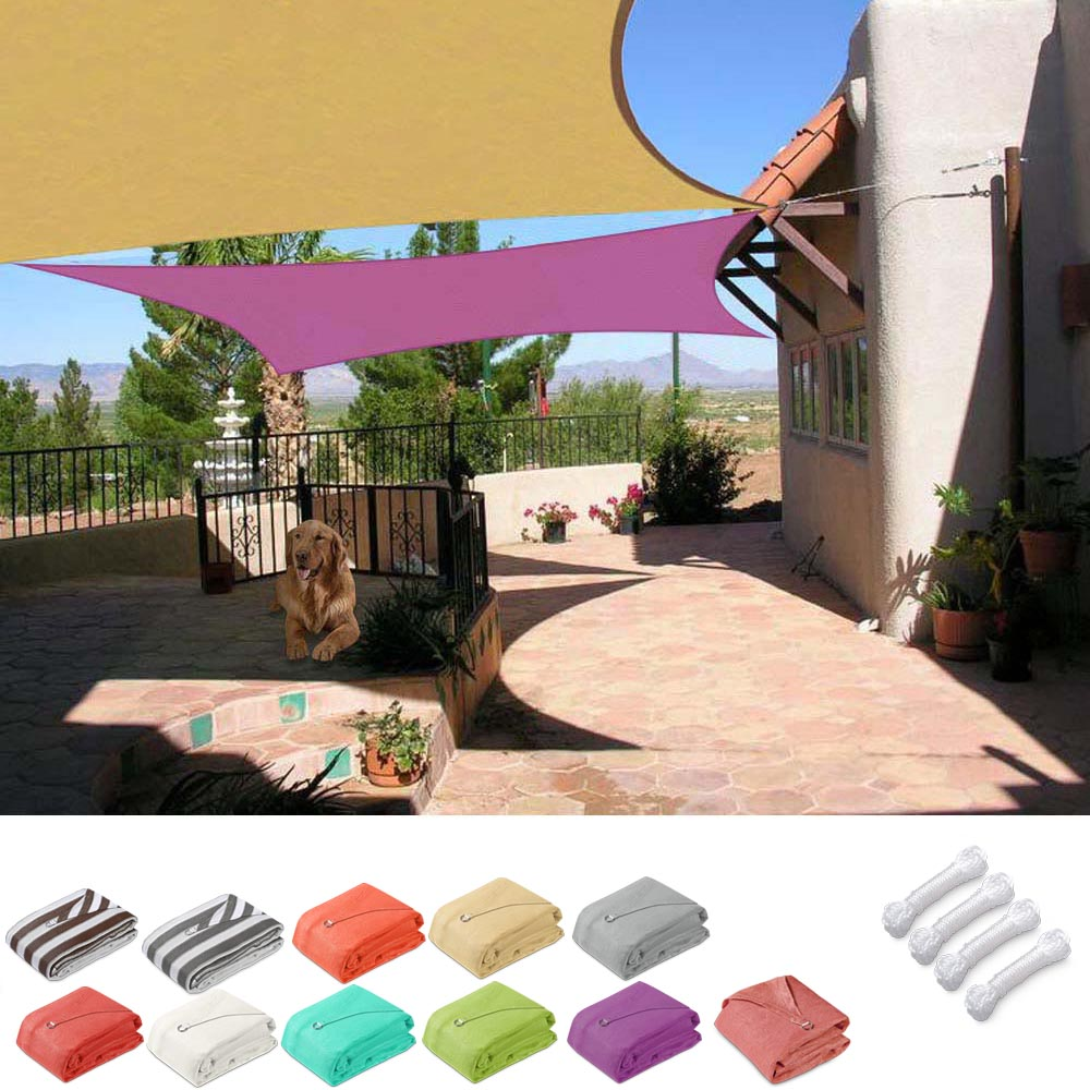 Square Sun Sail Patio Deck Shade Sail 16x16