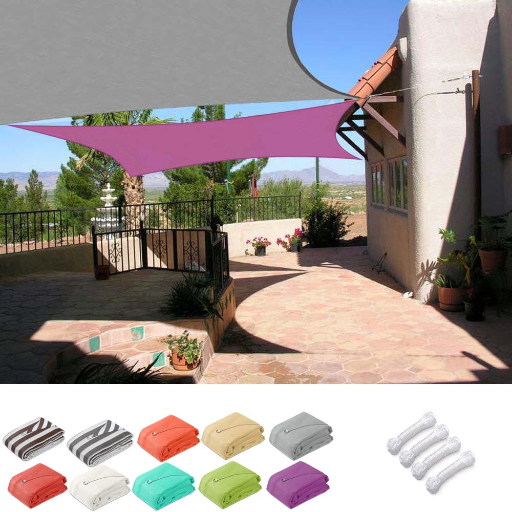 Rectangle Shade Sail Patio Deck Shade 16x12