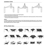 Rectangle Shade Sail Patio Deck Shade 8x12