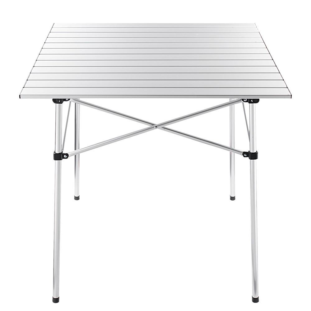 "Folding Camping Table Roll Up Aluminum 27""x28"""