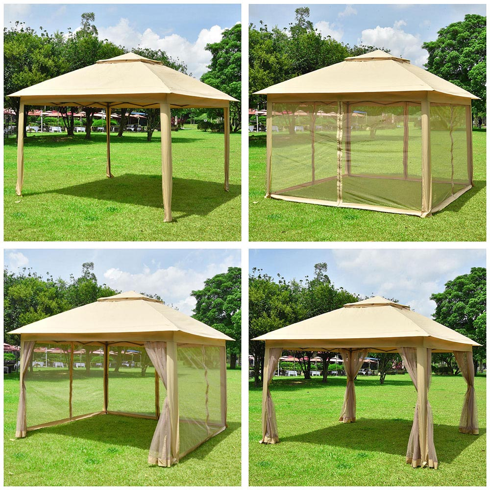 Pop Up Gazebo with Netting 11x11 ft