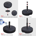 "62 lb Umbrella Stand Sand Water Filled 1 1/2"" to 1 7/8"" (Preorder)"