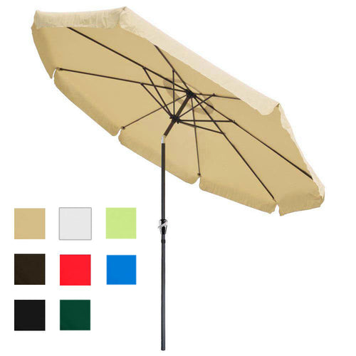 Patio Umbrella Tilt Metal 10ft 8-Rib