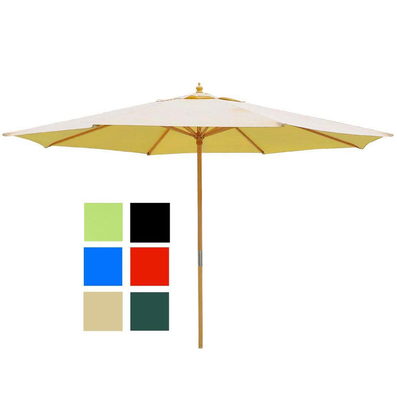 Patio Umbrella Wooden 13ft 8-Rib