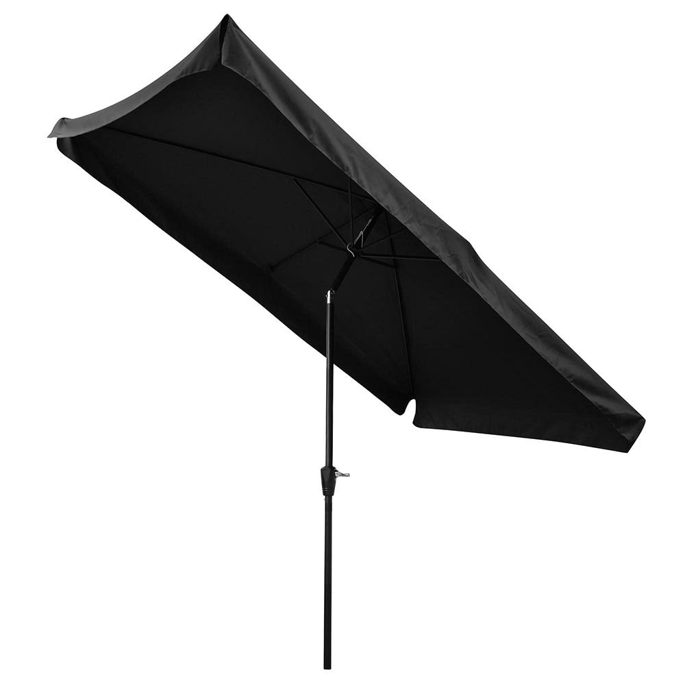 Rectangular Patio Umbrella Tilt Metal 10x6.5ft 6-Rib