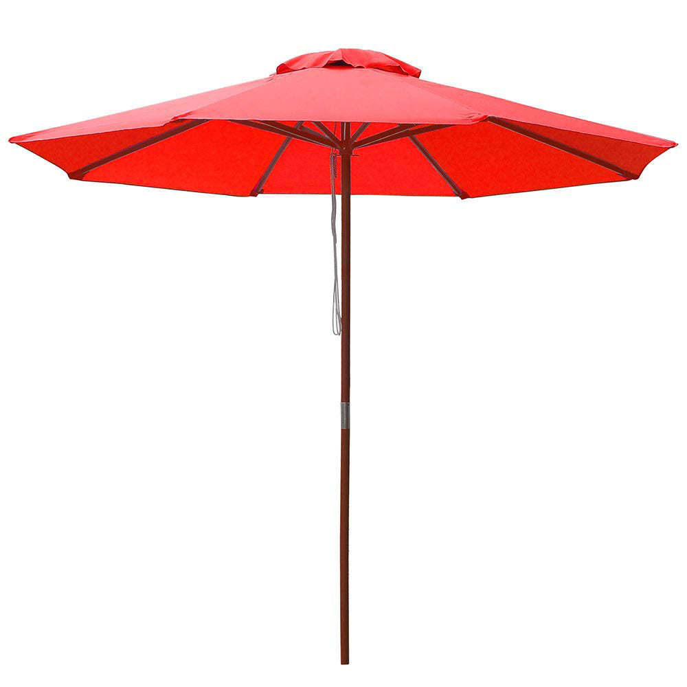 Patio Umbrella Wooden 9ft 8-Rib