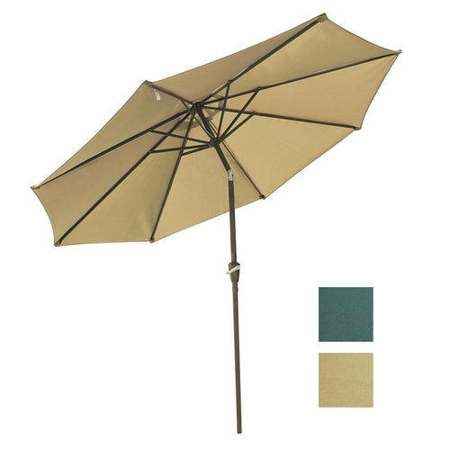 Patio Umbrella Tilt Metal 200 gsm Canopy 9ft 8-Rib
