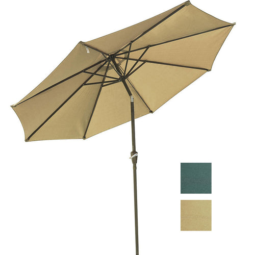 Patio Umbrella Tilt Metal 200 gsm Canopy 10ft 8-Rib