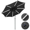 Solar Patio Umbrella with Light Tube Tilt Metal 10ft 8-Rib
