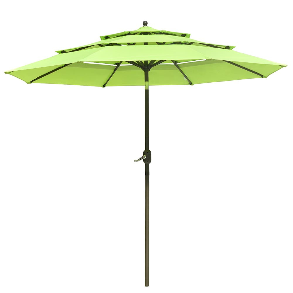 Patio Umbrella Tilt 3-Tiered 10ft 8-Rib