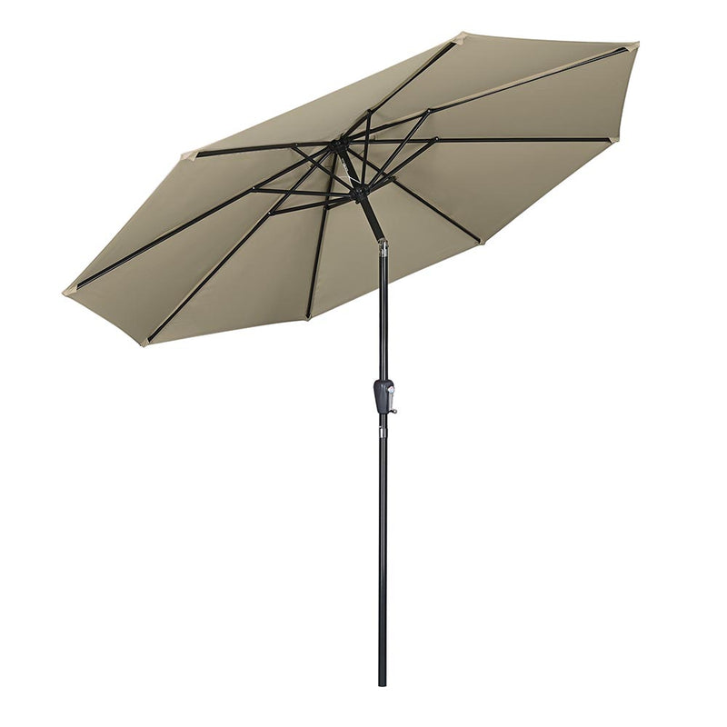 Patio Umbrella Tilt 10ft 8-Rib 220 gsm Canopy UV50+