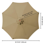 Patio Umbrella Canopy 8ft 8-Rib