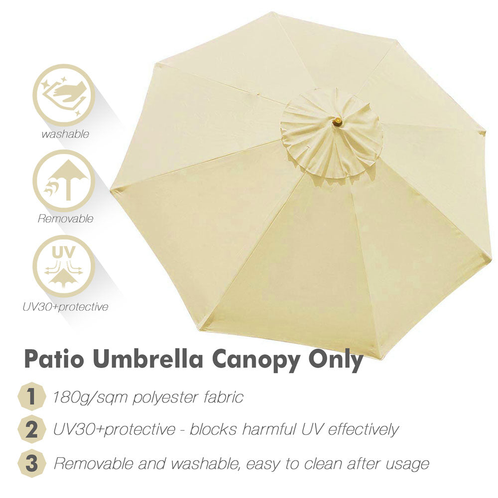 Patio Umbrella Canopy 9ft 8-Rib