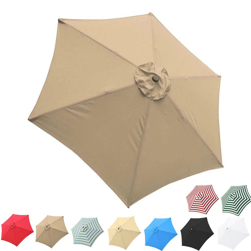 Patio Umbrella Canopy 9ft 6-Rib