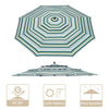 Patio Umbrella Canopy 9ft 8-Rib 3-Tiered