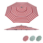 Patio Umbrella Canopy 10ft 8-Rib 3-Tiered