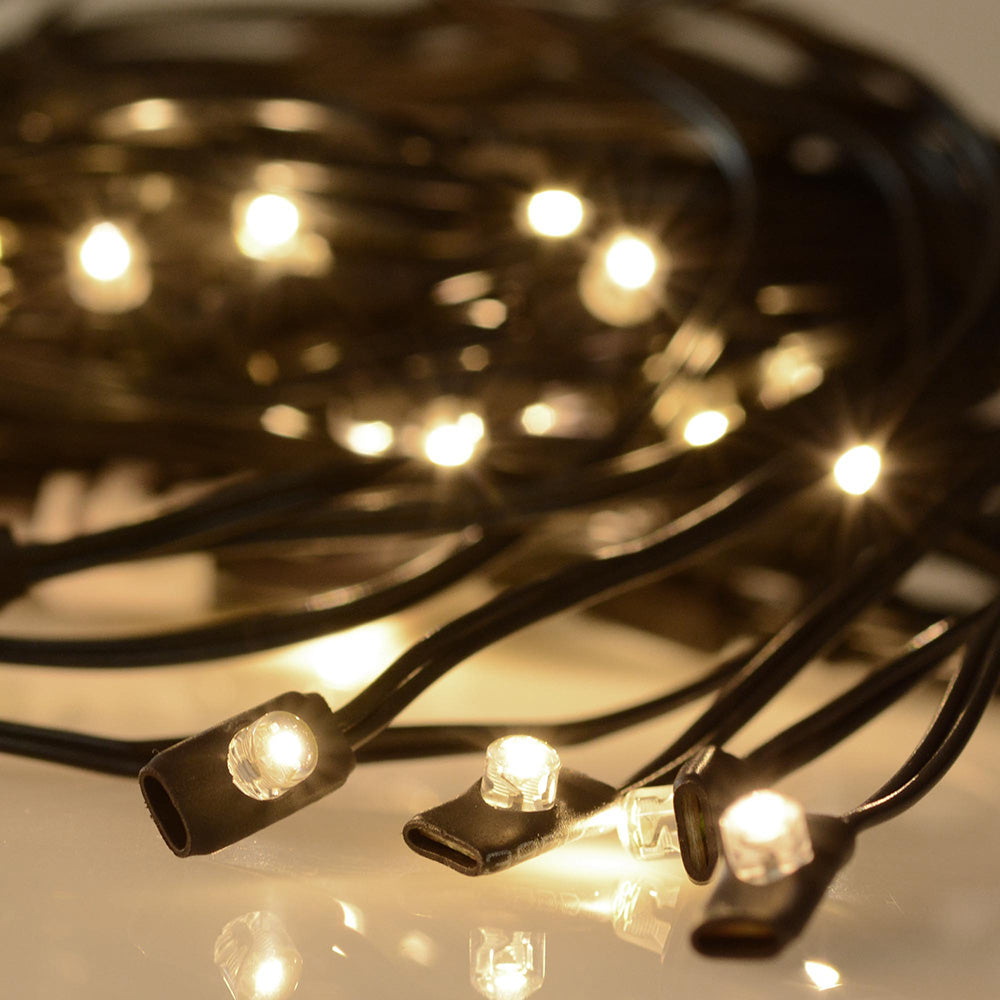 Solar String Lights for Wooden Patio Umbrella 8ft/9ft 6-Rib