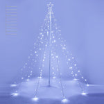 Christmas Tree Light with Pole & Star 10-String