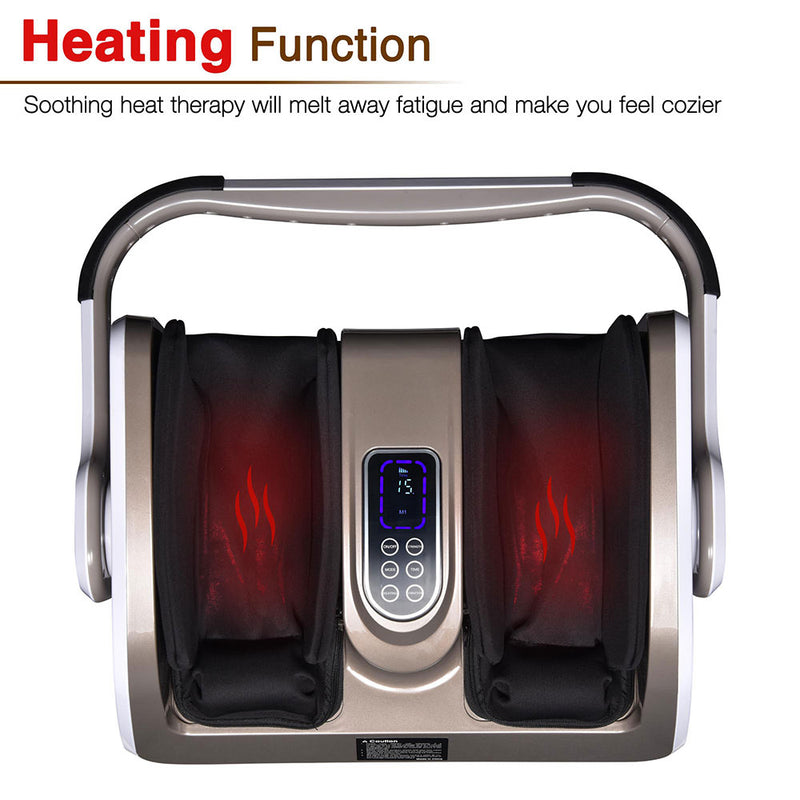 Heated Foot and Calf Arms Massager with Remote