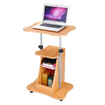 Adjustable Mobile Laptop Cart with Storage