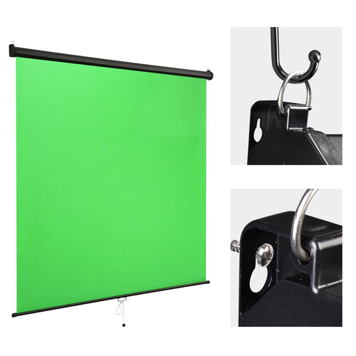 Retractable Green Screen Backdrop Chromakey Panel 7x6ft