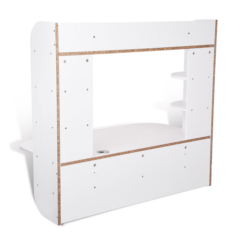 Computer Desk Floating Wall Mounted Desk w/ Shelves 43x22x40