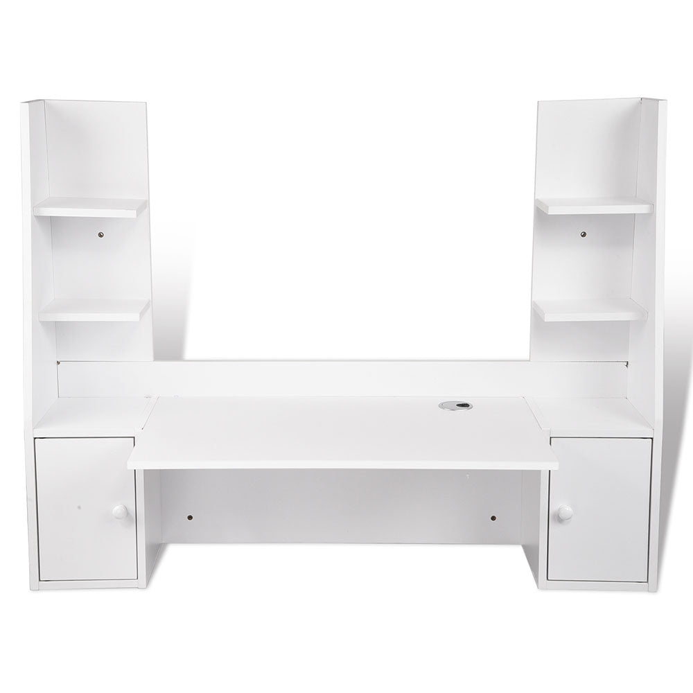 Computer Desk Floating Wall Mounted Desk Shelves Cabinet 47x17x36