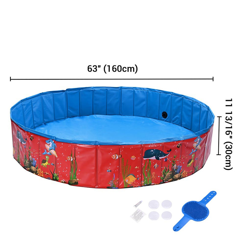 Potable Pool for Dogs Kids Pet Swimming Bathing