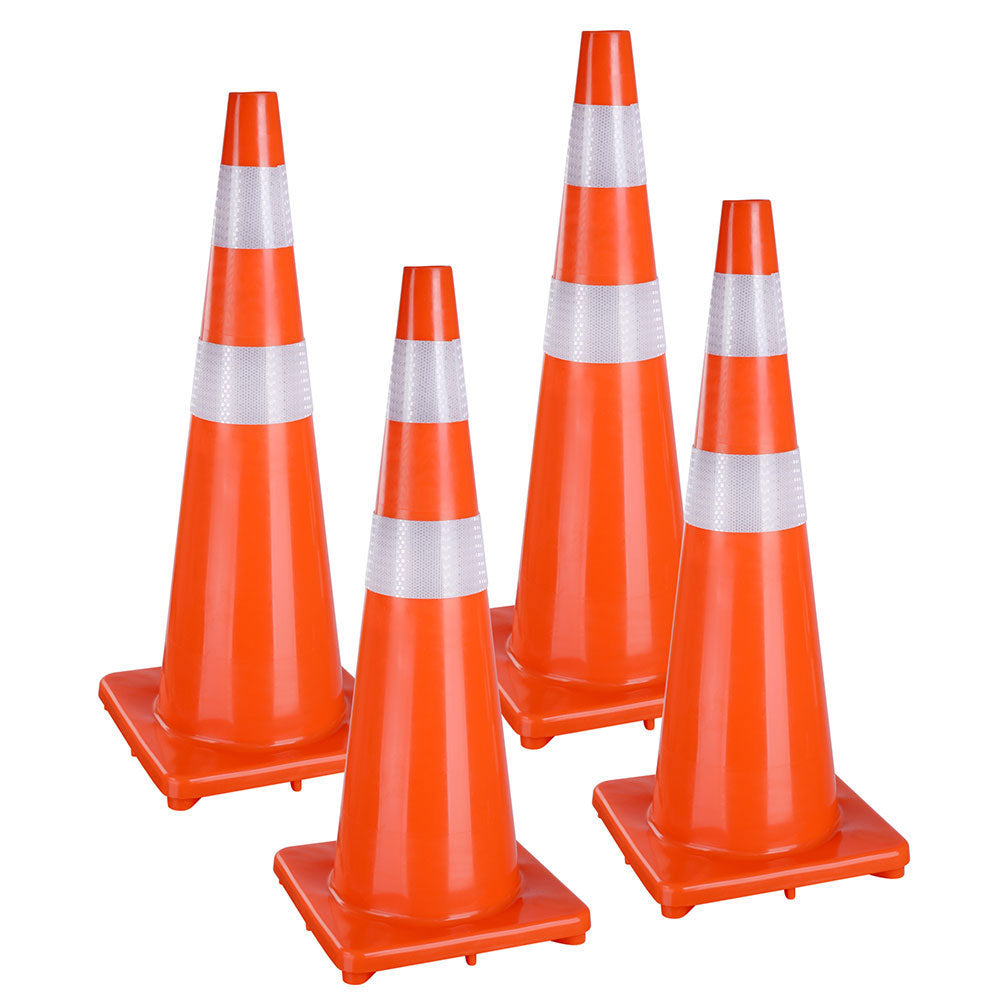 "36"" Traffic Cones with Reflective Collars"