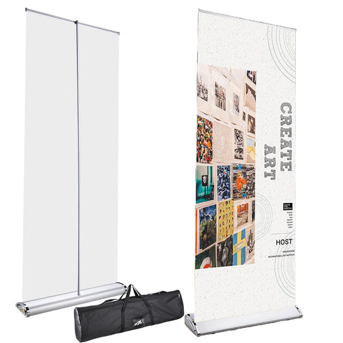 Wholesale Retractable Banner Stand Heavy Duty, Bag, 33.5x81 Graphic