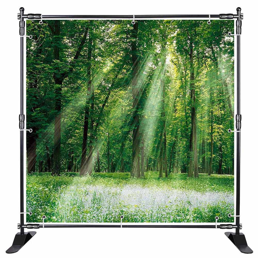 8 ft Adjustable Telescopic Trade Show Banner Stand