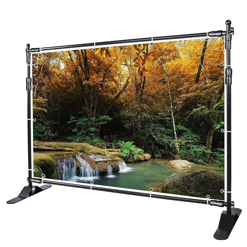10x8 ft Adjustable Telescopic Trade Show Banner Stand Economy