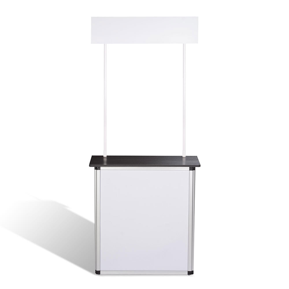 Portable Trade Show Display Podium Counter w/ Header Black