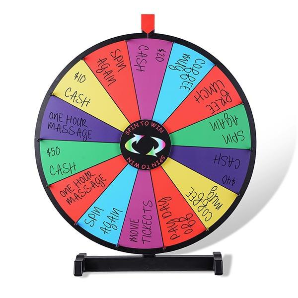 WinSpin Prize Wheel Tabletop Dry Erase Spinning Wheel, 18""