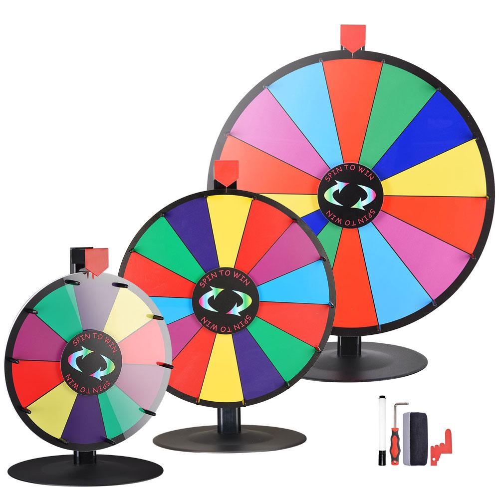 WinSpin Prize Wheel Tabletop Spinning Wheel Dry Erase Round Base